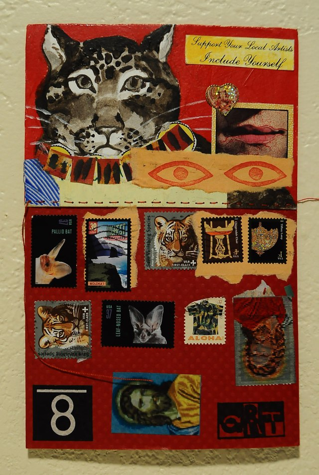 add and pass mail art card