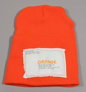 Safety Orange Knit Hat