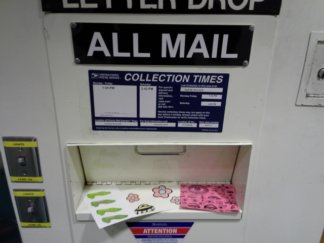 Mail Art at the Airport Mail Box