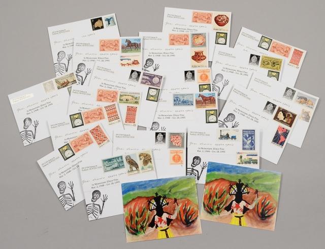Gaan Dancer With Vintage Stamps
